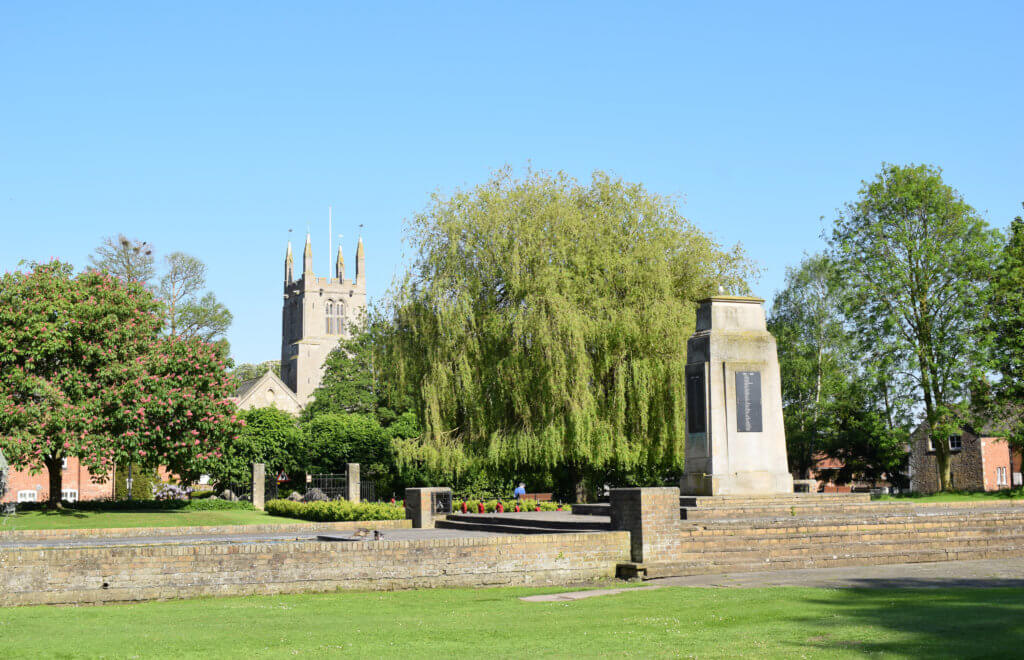 Bourne church & memorial