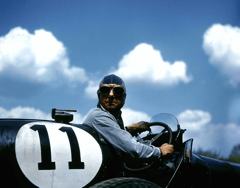 Raymond Mays in car