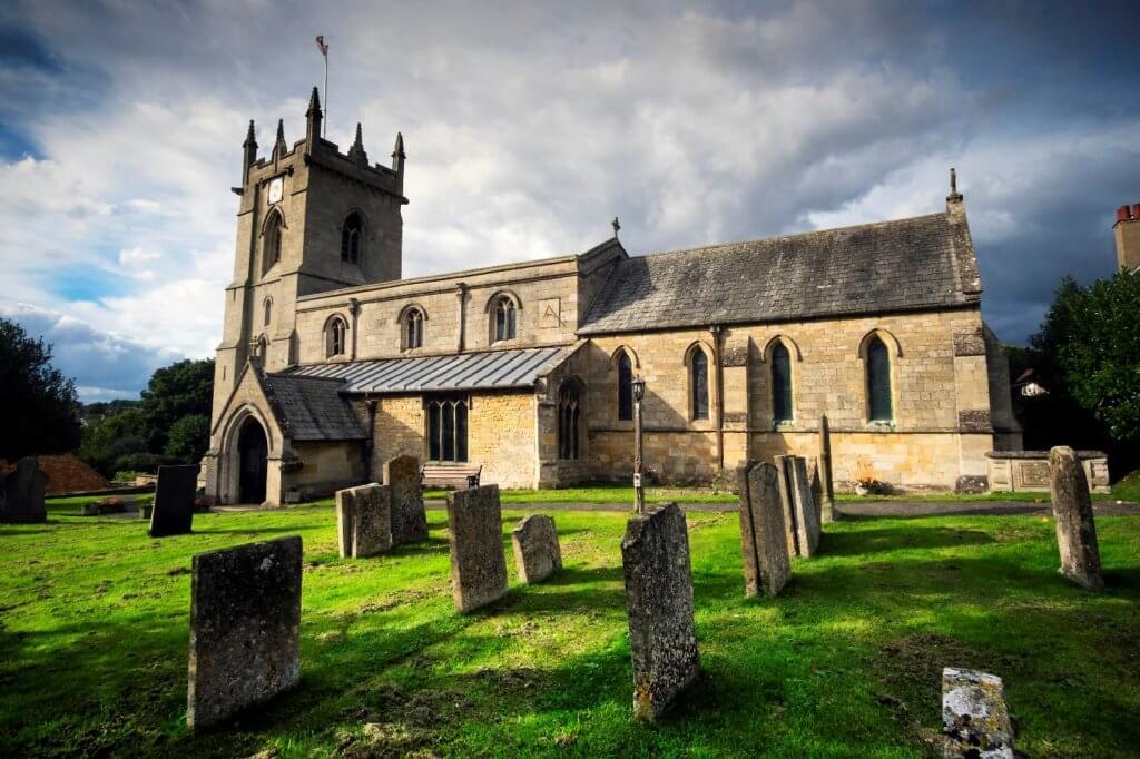 St Johns Colstwerworth Church and churchyard