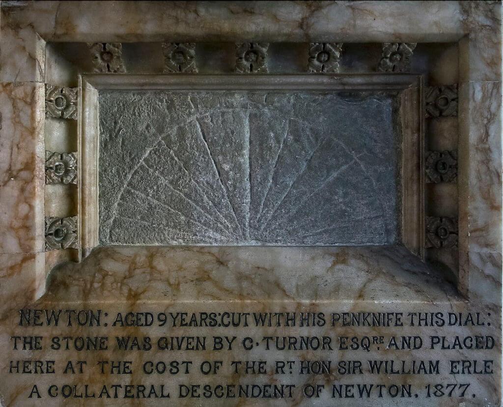 St Johns Colstwerworth Newton's sundial