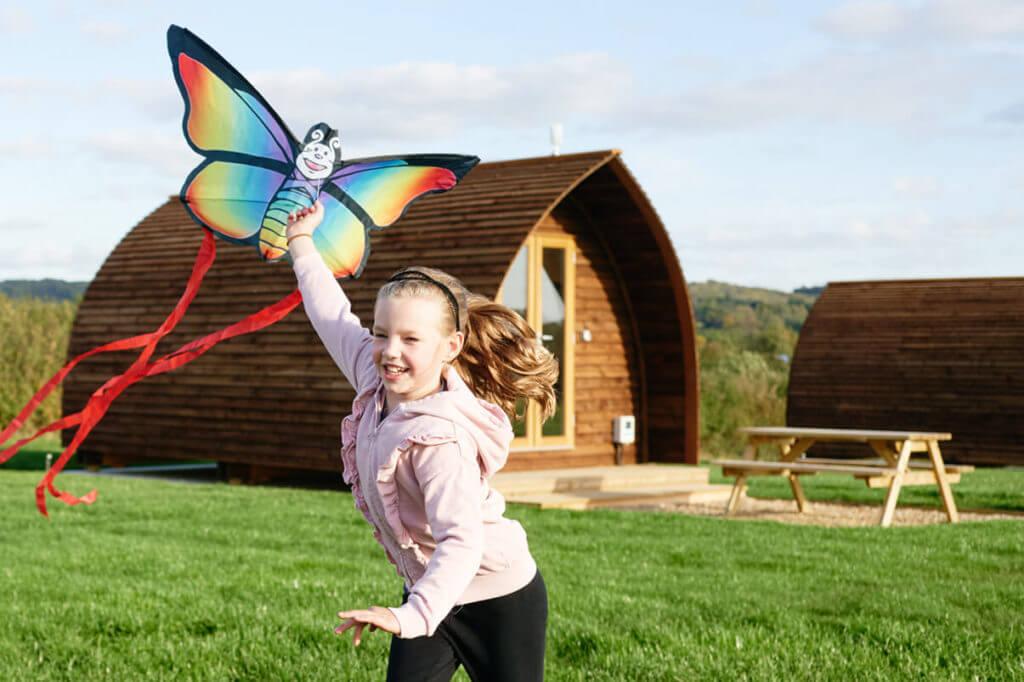 Wigwam Millside with kite