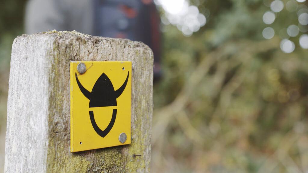 Viking Way sign close up