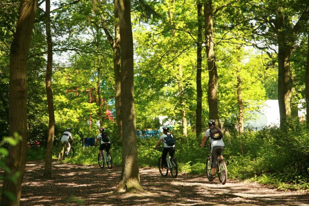 Grimsthorpe Castle cyclists