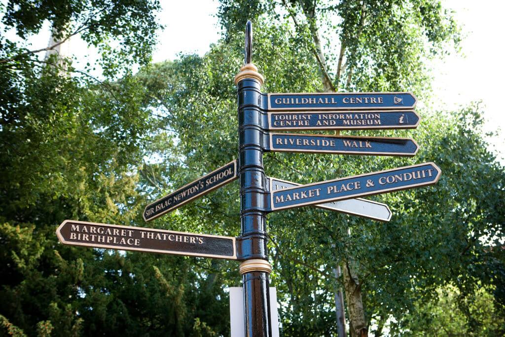 Grantham visitor signpost