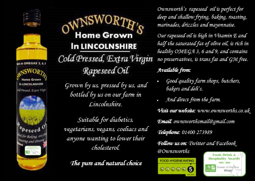 Ownsworths rape seed promo leaflet