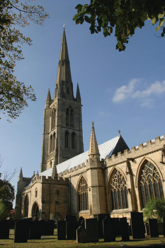 The 282@ spire of this medeival parish Church - a major attraction in Grantham