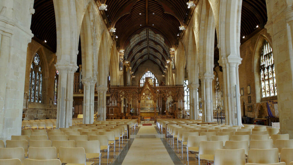 St Wulfram's Church in Grantham - a popular attraction for visitors