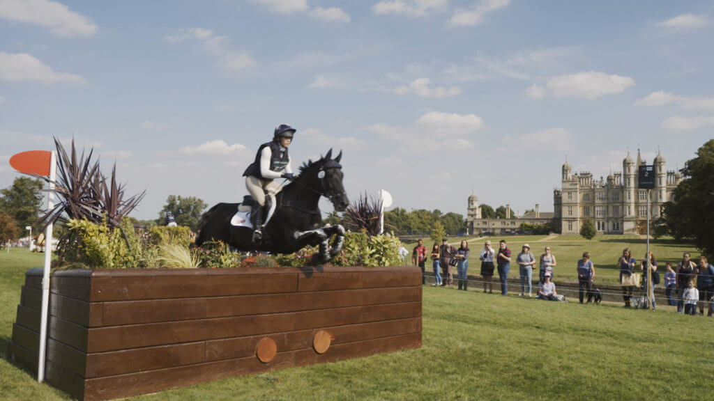 Burghley horse trials jump