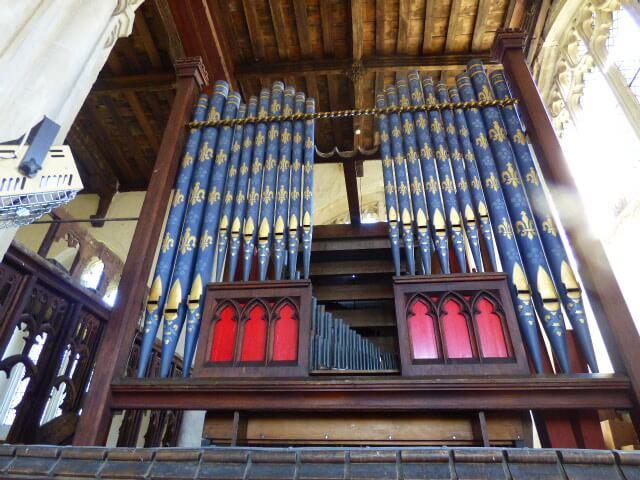 St Lawrence Sedgebrook organ pipes
