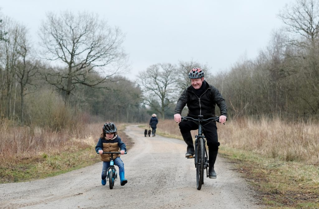 Bourne Woods family cycling